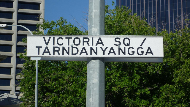 Photograph of Street Signage in the same location, 2011