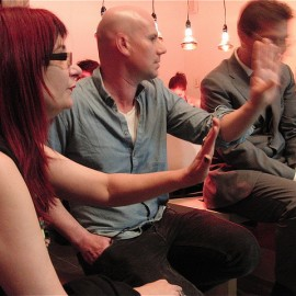 Amanda McDonald Crowley, Mathias Kessler, Andreas Stadler discuss Our Haus