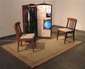 """""""Unattended Luggage"""" by Time's Up gives visitors a chance to explore personal aspects of immigration and home (photo by twi-ny/mdr)"""