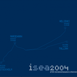 ISEA2004 catalogue cover.  publisher: m-cult  design: Tuomo Tammenpää