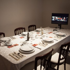 Installation view 'Remains of Disembodied Cuisine' by Oron Catts & Ionat Zurr.