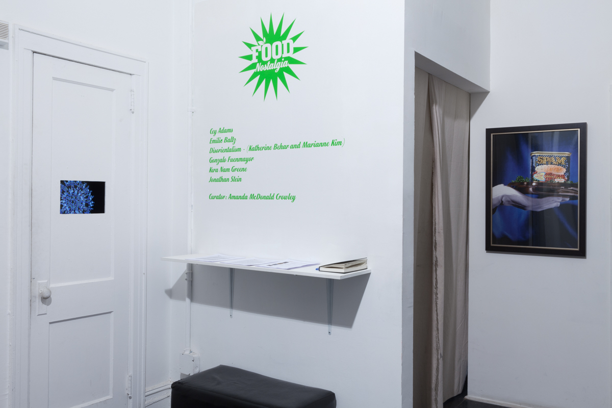 Installation view, food nostalgia. Graphic: Cey Adams; photo: Jeanette May